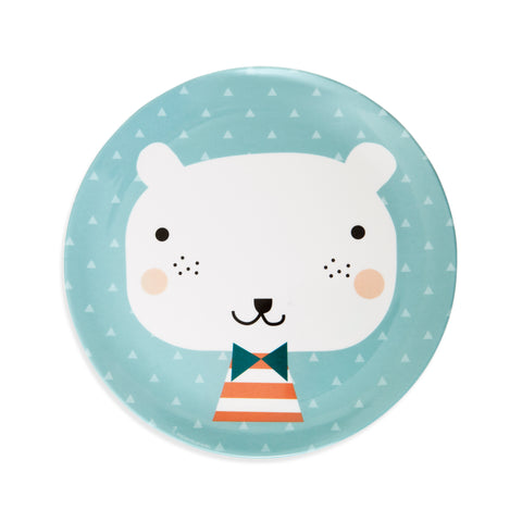 Piatto In Melamina Bear Triangles | PETIT MONKEY | RocketBaby.it