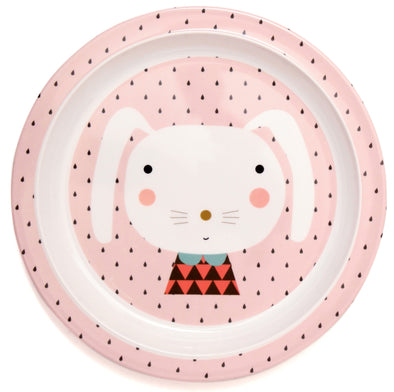 Piatto In Melamina Con Bordi Rabbit Drops | PETIT MONKEY | RocketBaby.it