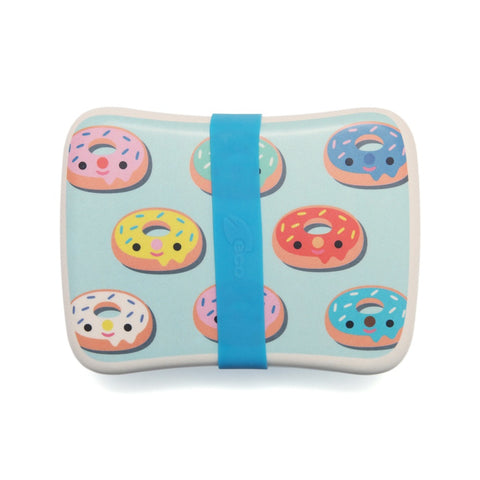 Lunchbox In Bamboo Donuts Blue | PETIT MONKEY | RocketBaby.it
