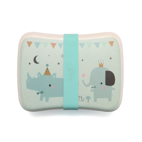 Lunchbox In Bamboo Rhino E Friends | PETIT MONKEY | RocketBaby.it
