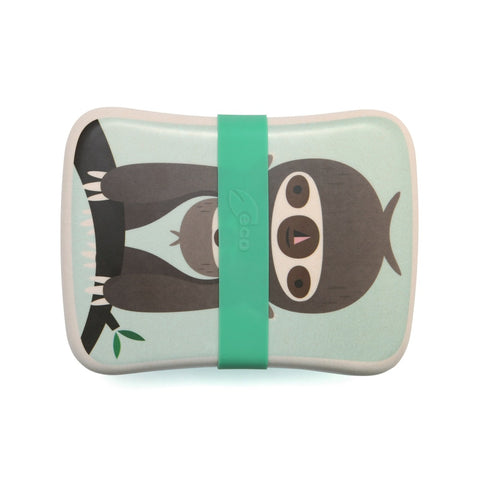 Lunchbox In Bamboo Bradipo Green | PETIT MONKEY | RocketBaby.it