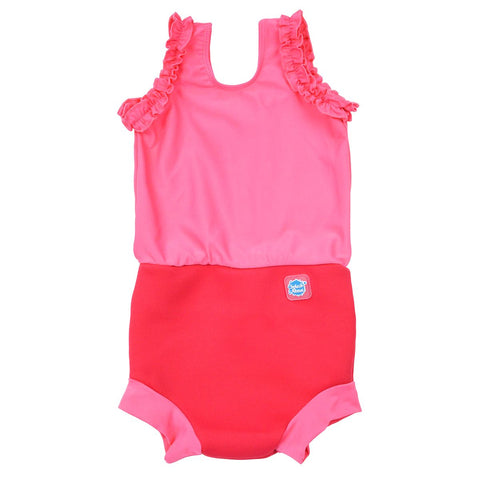 Costume Intero Assorbente Pink Geranium | SPLASH ABOUT | RocketBaby.it