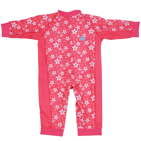 Costume Intero Anti UV Pink Blossom | SPLASH ABOUT | RocketBaby.it