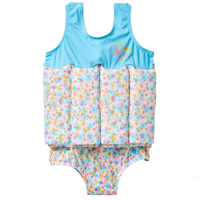 Costume Intero con Inserti Galleggianti Flora Bimbi | SPLASH ABOUT | RocketBaby.it