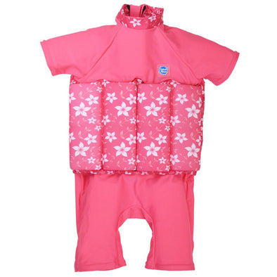 Costume Intero Anti UV con Inserti Galleggianti Pink Blossom | SPLASH ABOUT | RocketBaby.it