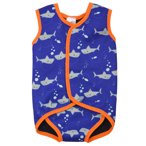 Costume Intero in Neoprene Shark Orange | SPLASH ABOUT | RocketBaby.it