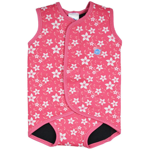 Costume Intero in Neoprene Pink Blossom | SPLASH ABOUT | RocketBaby.it