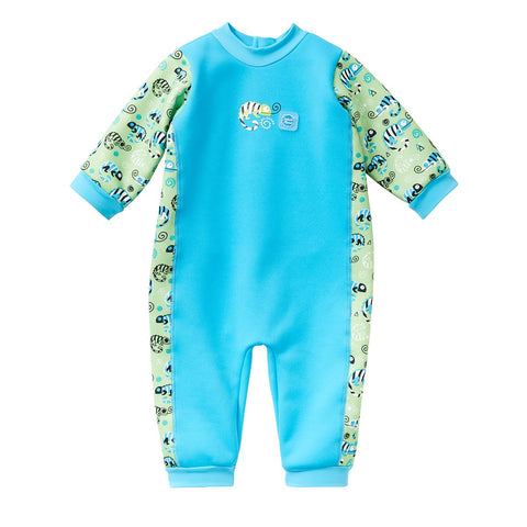 Costume Intero Warm in One Green Gecko | SPLASH ABOUT | RocketBaby.it