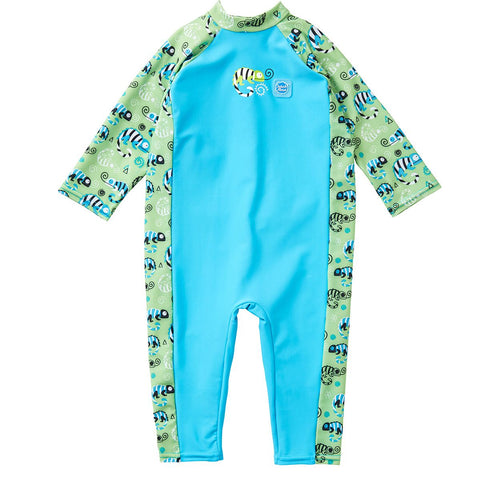 Costume Intero Anti UV Green Gecko | SPLASH ABOUT | RocketBaby.it