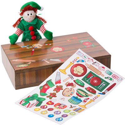Piccolo Elfo di Babbo Natale Girl Red Hair con Casetta | ELF MAGIC | RocketBaby.it