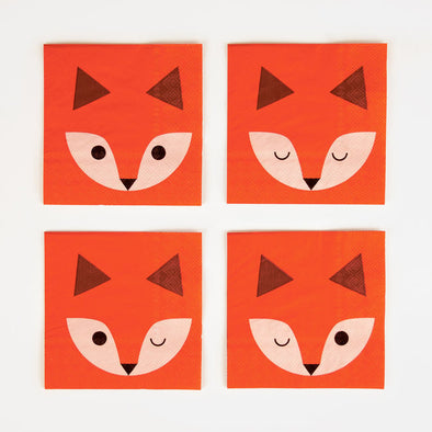 20 Tovaglioli In Carta Mini Fox | MY LITTLE DAY | RocketBaby.it