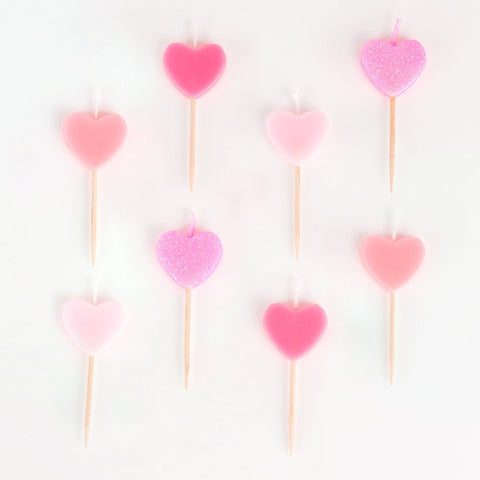 8 Candeline Pink Hearts | MY LITTLE DAY | RocketBaby.it