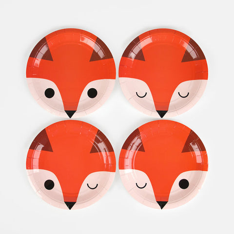 8 Piatti In Carta Mini Fox | MY LITTLE DAY | RocketBaby.it