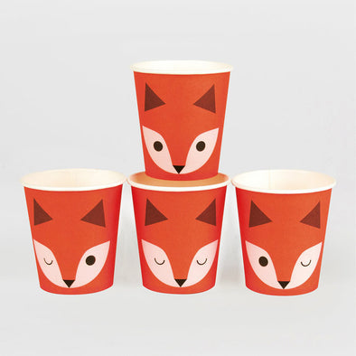 8 Bicchieri In Carta Mini Fox | MY LITTLE DAY | RocketBaby.it