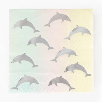 16 Tovaglioli In Carta Dolphins | MY LITTLE DAY | RocketBaby.it