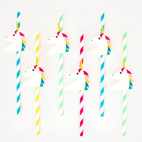 12 Cannucce In Carta Unicorns | MY LITTLE DAY | RocketBaby.it