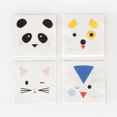 20 Tovaglioli In Carta Mini Animals | MY LITTLE DAY | RocketBaby.it