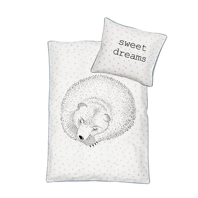 Set Copripiumone e Federa Orso che Dorme White | BLOOMINGVILLE | RocketBaby.it