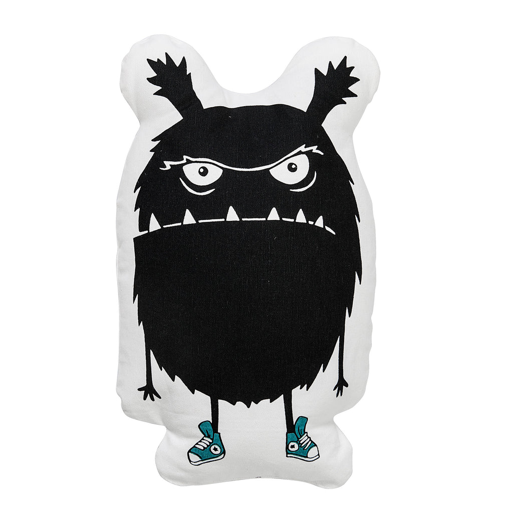 Cuscino Grumpy Monster Sagomato White | BLOOMINGVILLE | RocketBaby.it