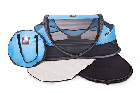 Tenda e Lettino Popup Baby Luxe Blue | DERYAN | RocketBaby.it