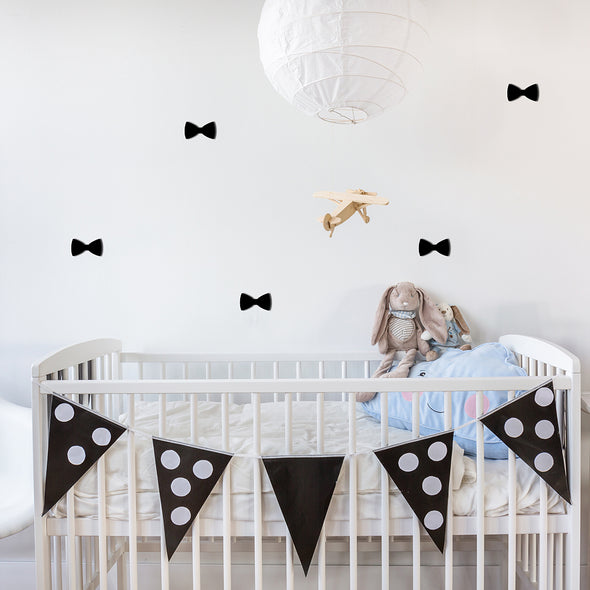 Adesivi Bow Nero | DEKOSIGN | RocketBaby.it