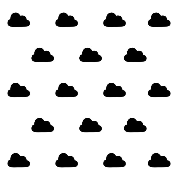 Adesivi Cloud Geometric Nero | DEKOSIGN | RocketBaby.it