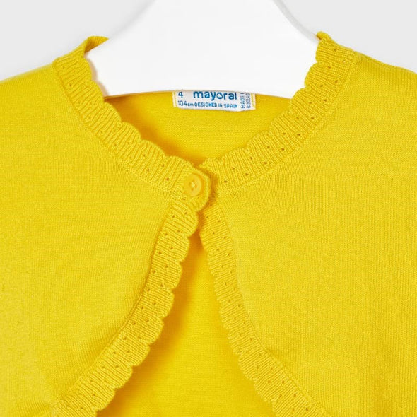Cardigan Tricot Basic Giallo