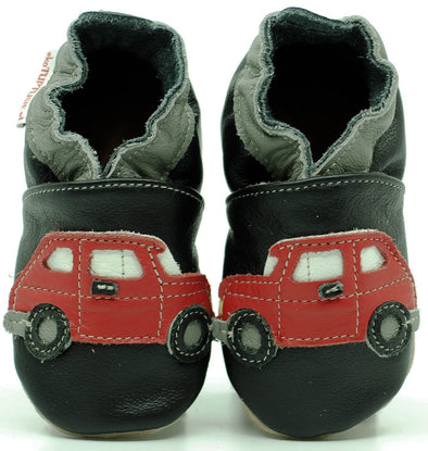 Babbucce Soft Sole Red Cars On Black | FIORINO | RocketBaby.it