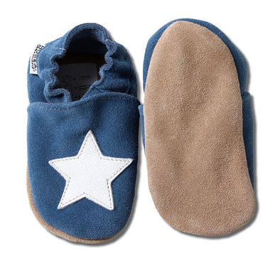 Babbucce Blue With White Star | HOBEA | RocketBaby.it
