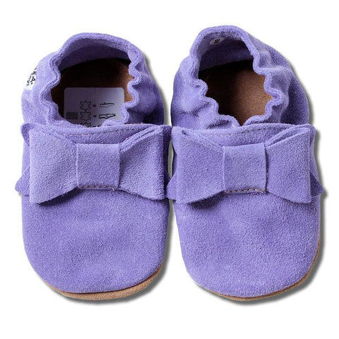 Babbucce Bow Lilac Suede | HOBEA | RocketBaby.it