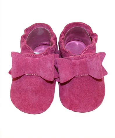 Babbucce Fiocco Fucsia | BABICE | RocketBaby.it