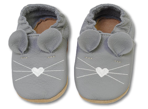 Babbucce Topino Grigio Scuro | HOBEA | RocketBaby.it