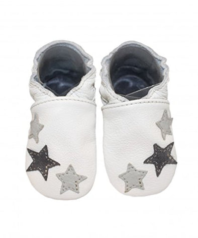 Babbucce 3 Stars Gray | BABICE | RocketBaby.it
