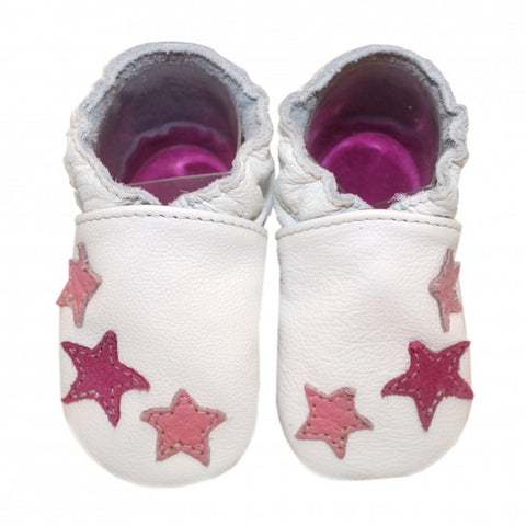 Babbucce 3 Stars Pink | BABICE | RocketBaby.it