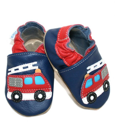 Babbucce Fire Truck Navy | BABICE | RocketBaby.it