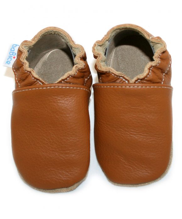 Babbucce Light Brown | BABICE | RocketBaby.it
