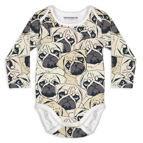 Body a Manica Lunga Pug Off | SLEEP NO MORE | RocketBaby.it