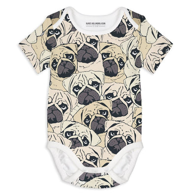 Body a Manica Corta Pug Off | SLEEP NO MORE | RocketBaby.it