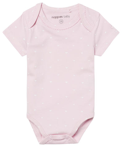 Body a Maniche Corte con Cuoricini Rosa |  | RocketBaby.it