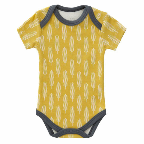 Body Manica corta Giallo Vintage | KUK | RocketBaby.it