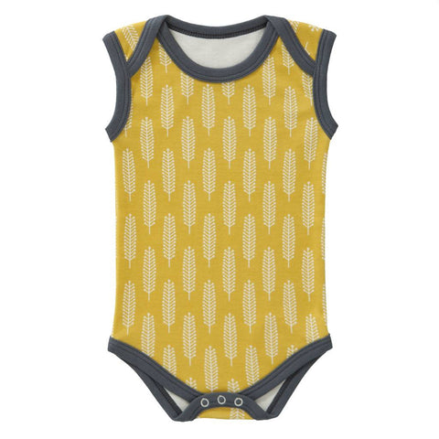Body senza Maniche Giallo Vintage | KUK | RocketBaby.it