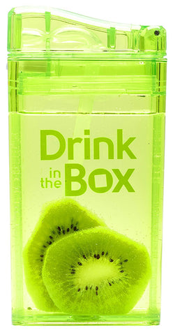 Borraccia con Cannuccia Integrata 235 ml Verde | DRINK IN THE BOX | RocketBaby.it