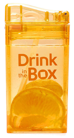 Borraccia con Cannuccia Integrata 235 ml Arancione | DRINK IN THE BOX | RocketBaby.it