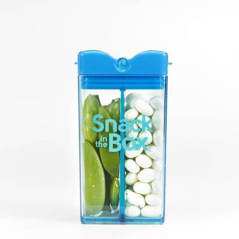 Snack Box 355 ml con 2 Scomparti Blu | DRINK IN THE BOX | RocketBaby.it
