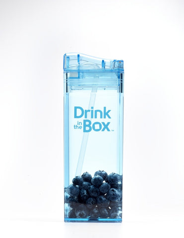 Borraccia con Cannuccia Integrata 355 ml Blu | DRINK IN THE BOX | RocketBaby.it