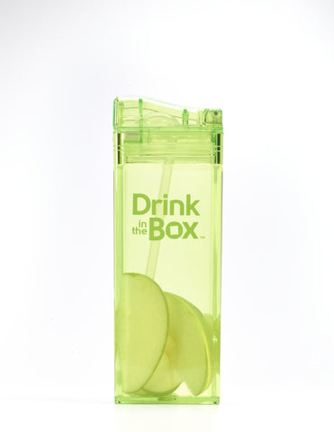 Borraccia con Cannuccia Integrata 355 ml Verde | DRINK IN THE BOX | RocketBaby.it