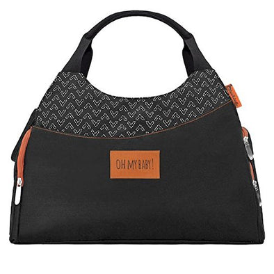 Borsa Fasciatoio Multipocket Nera | BADABULLE | RocketBaby.it