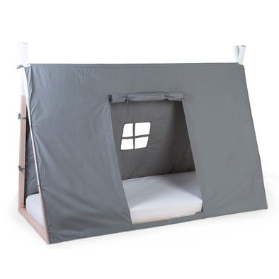 Cover per Letto Tenda Tipi 90x200 Cm Grey