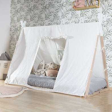 Cover per Letto Tenda Tipi 90x200 Cm White