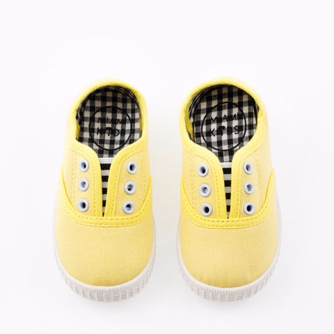 Scarpe Slip on Baby Tela Giallo Limone | MIAMI KIDS | RocketBaby.it